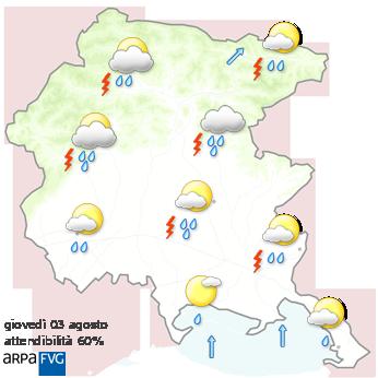 meteo friuli venezia giulia domani